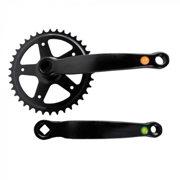 Angrenaj pedalier Clasic, 38T, negru 0