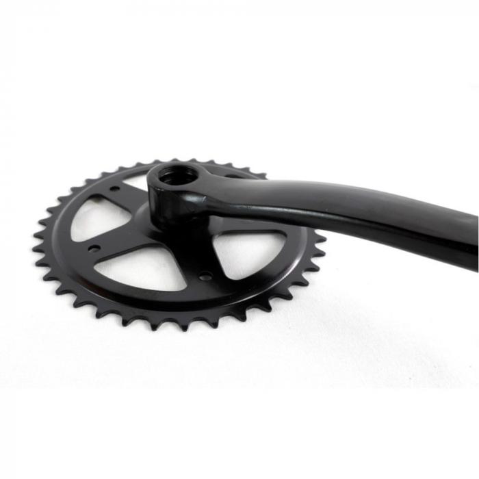 Angrenaj pedalier Clasic, 38T, negru 1