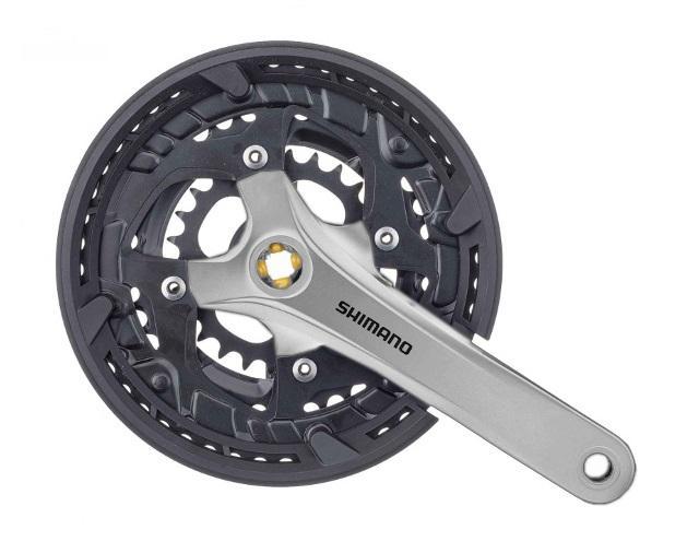 Angrenaj Pedalier, Fc-T3010, For Rear 9-Speed,175Mm, 48X36X26T W/Cg,Chain Case Compatible, W/Crank Fixing Bolt, Silver,Shimano Logo, Bulk 0