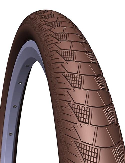 Anvelopa Bicicleta Mitas 26 X 2,00 V99 Cityhopper, Maro 0