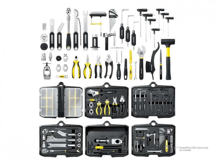 Atelier Mobil Topeak Prepstation Pro Tps-05, dulap-suport scule, otel profesional 3
