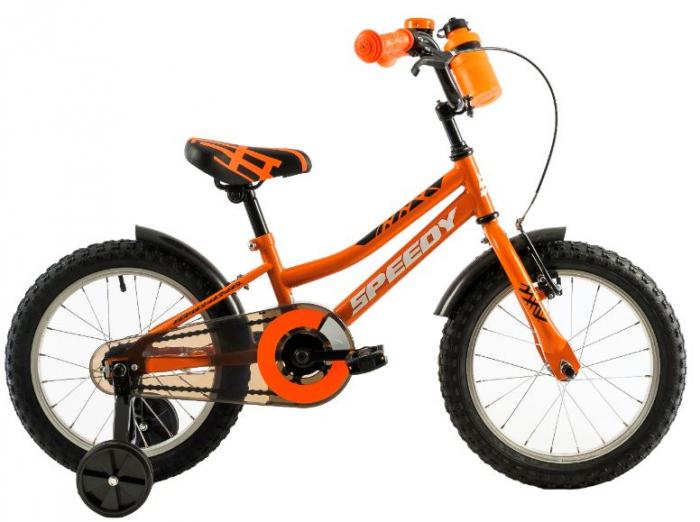 Bicicleta Copii Dhs 1401 Portocaliu/Negru 14 Inch 0
