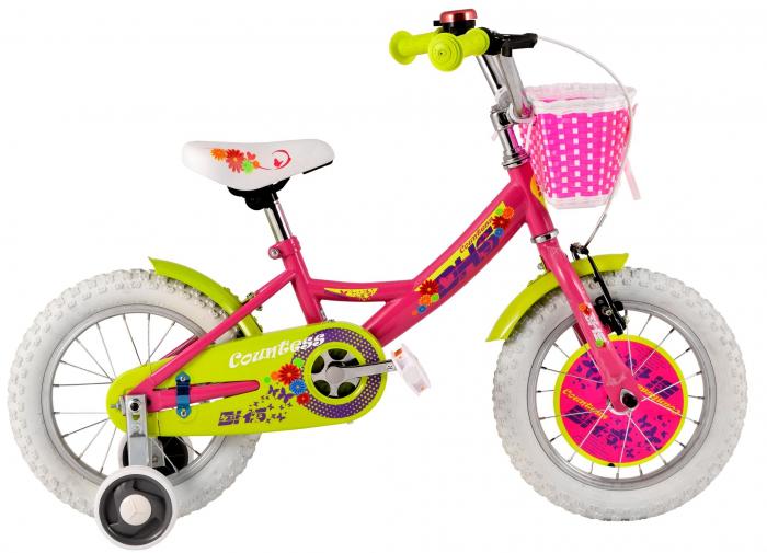 Bicicleta Copii Dhs 1402 Alb/Deschis 14 Inch 2