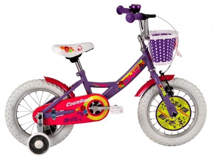 Bicicleta Copii Dhs 1402 Alb/Deschis 14 Inch 1