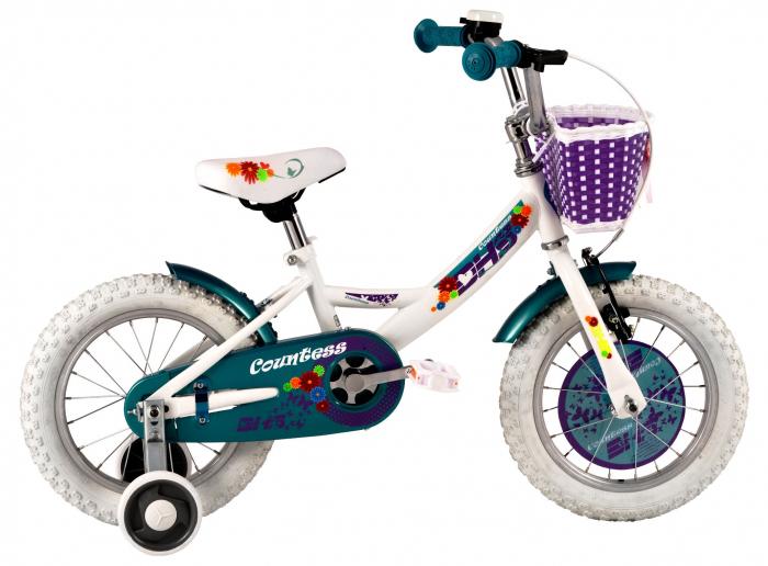 Bicicleta Copii Dhs 1402 Alb/Deschis 14 Inch 0