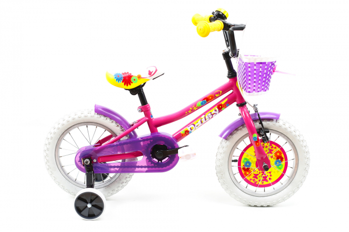 Bicicleta Copii Dhs 1402 Violet 14 Inch [5]