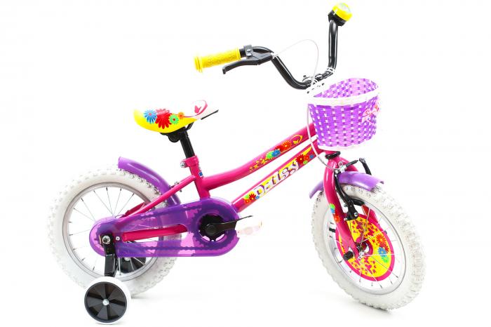 Bicicleta Copii Dhs 1402 Violet 14 Inch [7]