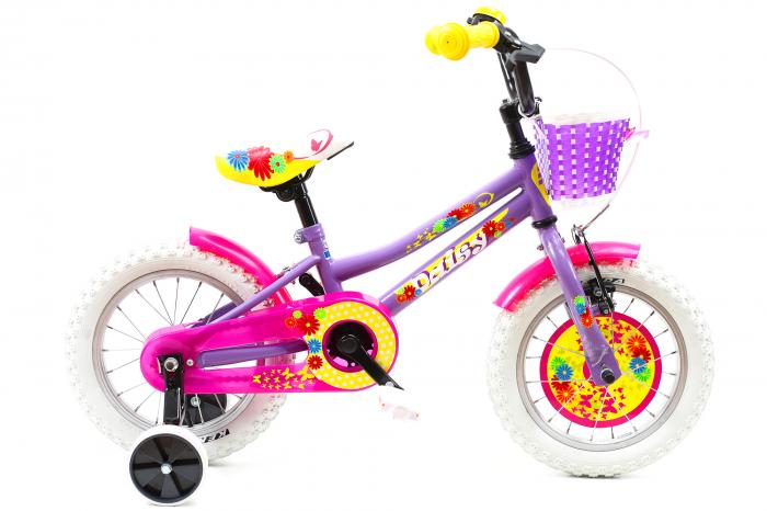 Bicicleta Copii Dhs 1402 Violet 14 Inch [0]