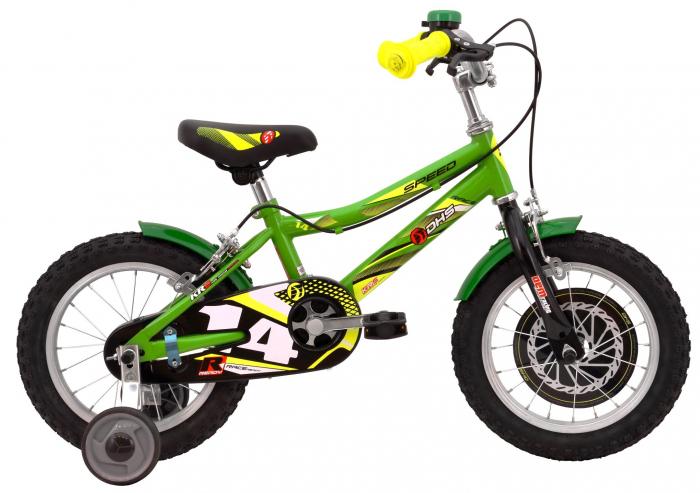 Bicicleta Copii Dhs 1403 Alb/Aprins 14 Inch 2