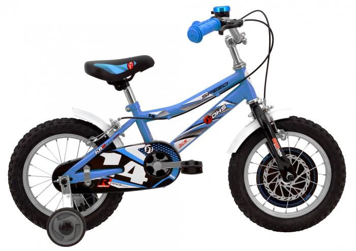 Bicicleta Copii Dhs 1403 Alb/Aprins 14 Inch 1