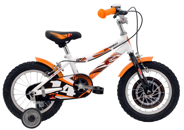 Bicicleta Copii Dhs 1403 Alb/Aprins 14 Inch 0