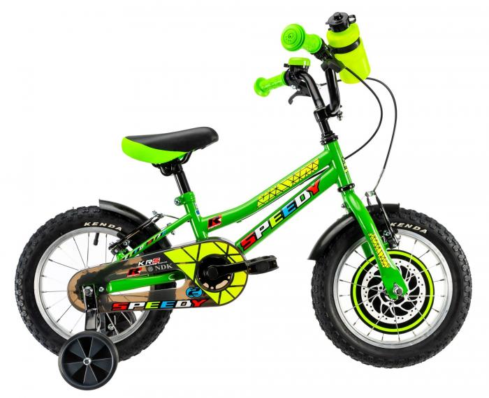 Bicicleta Copii Dhs 1403 Verde 14 Inch 0