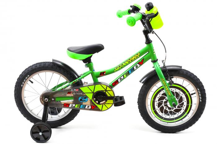 Bicicleta Copii Dhs 1601 Verde 16 Inch 0