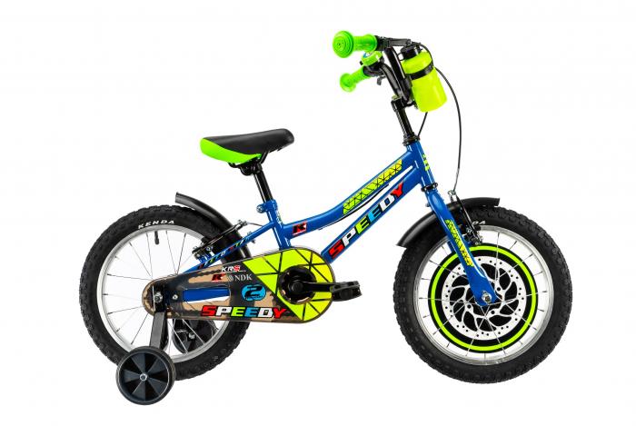 Bicicleta Copii Dhs 1603 Albastru 16 Inch 0