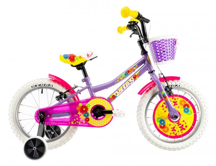 Bicicleta Copii Dhs 1604 Violet 16 Inch 0