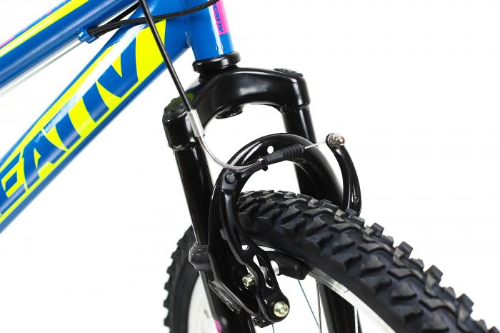 Bicicleta Copii Dhs 2404 Negru/Galben 24 Inch 4