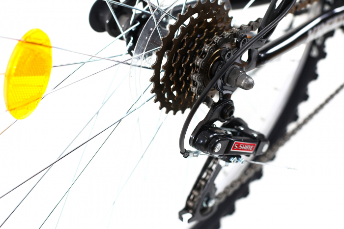 Bicicleta Copii Dhs 2404 Negru/Galben 24 Inch 10