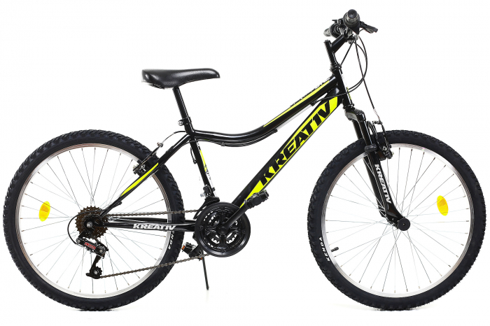 Bicicleta Copii Dhs 2404 Negru/Galben 24 Inch 0