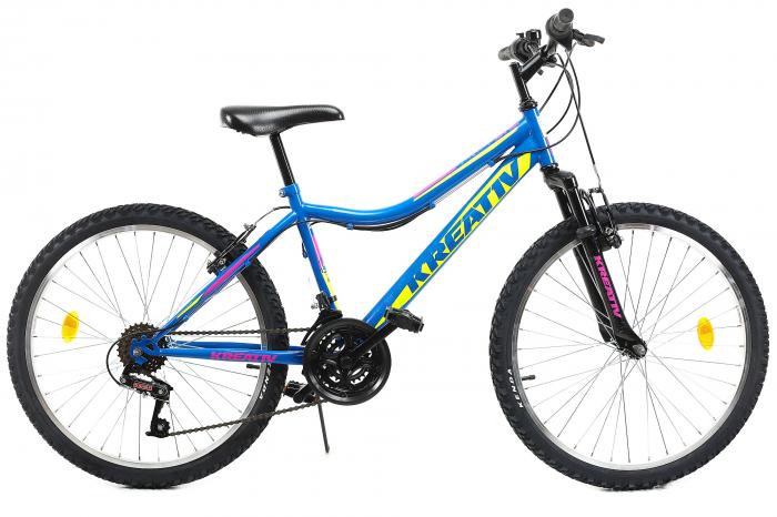 Bicicleta Copii Dhs 2404 Negru/Galben 24 Inch 2