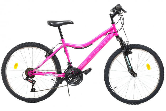 Bicicleta Copii Dhs 2404 Negru/Galben 24 Inch 1