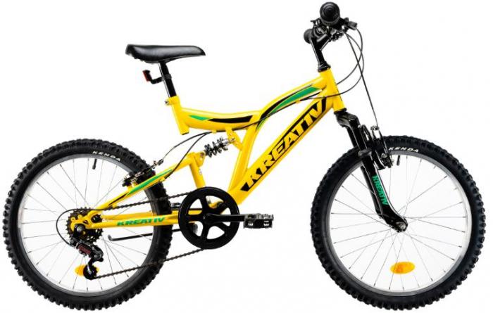 Bicicleta Copii Kreativ 2041 Galben 20 Inch 1