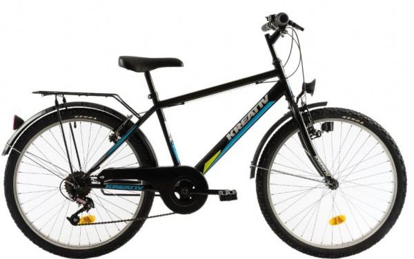 Bicicleta Copii Kreativ 2413 Negru 24 Inch 0