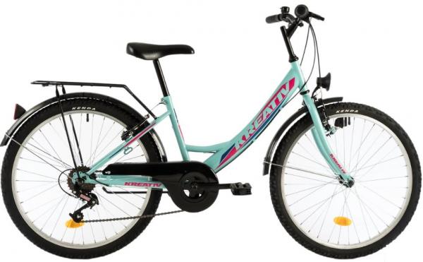 Bicicleta Copii Kreativ 2414 400Mm Turcoaz/Light 24 Inch 0