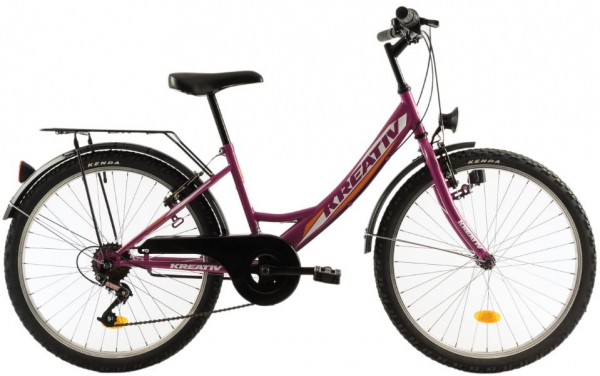 Bicicleta Copii Kreativ 2414 400Mm Turcoaz/Light 24 Inch 2