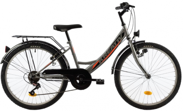 Bicicleta Copii Kreativ 2414 400Mm Turcoaz/Light 24 Inch 1