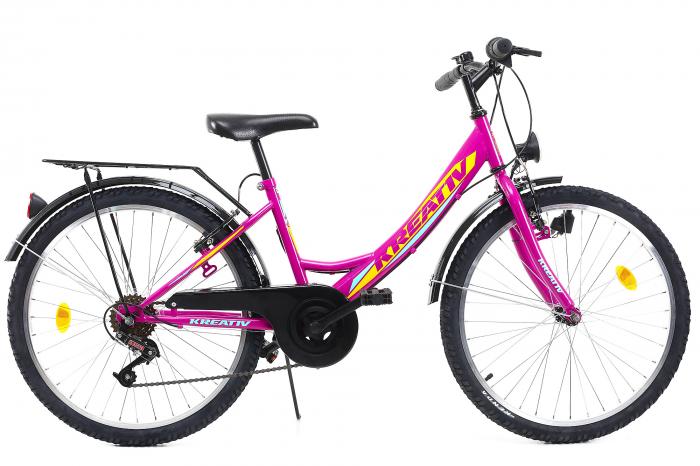 Bicicleta Copii Kreativ 2414 Turcoaz Light 24 Inch 1