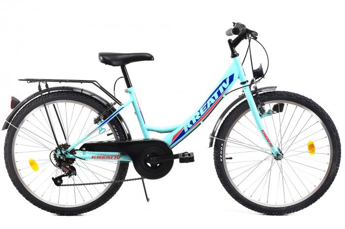Bicicleta Copii Kreativ 2414 Turcoaz Light 24 Inch 0