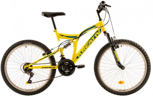 Bicicleta Copii Kreativ 2441 420Mm Galben/Aprins 24 Inch 1