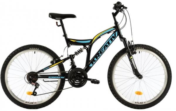 Bicicleta Copii Kreativ 2441 420Mm Galben/Aprins 24 Inch 0