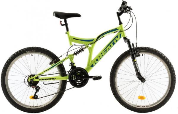 Bicicleta Copii Kreativ 2441 420Mm Galben/Aprins 24 Inch 2