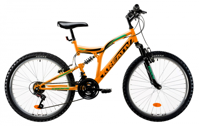 Bicicleta Copii Kreativ 2441 Portocaliu 24 Inch 0