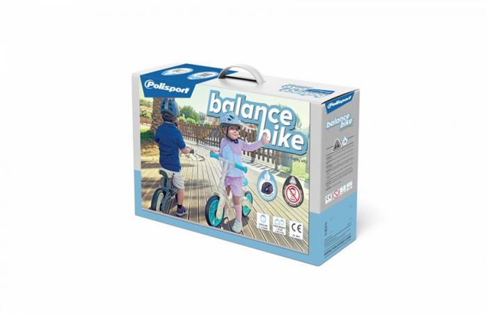 Bicicleta Copii Polisport Bb Gri/Crem 12 Inch, fara pedale, ergonomica, abtibilde 3