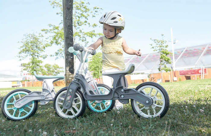 Bicicleta Copii Polisport Bb Gri/Crem 12 Inch, fara pedale, ergonomica, abtibilde 2