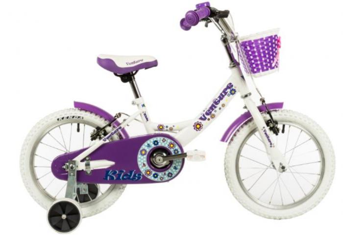 Bicicleta Copii Venture 1418 Alb 14 Inch 0