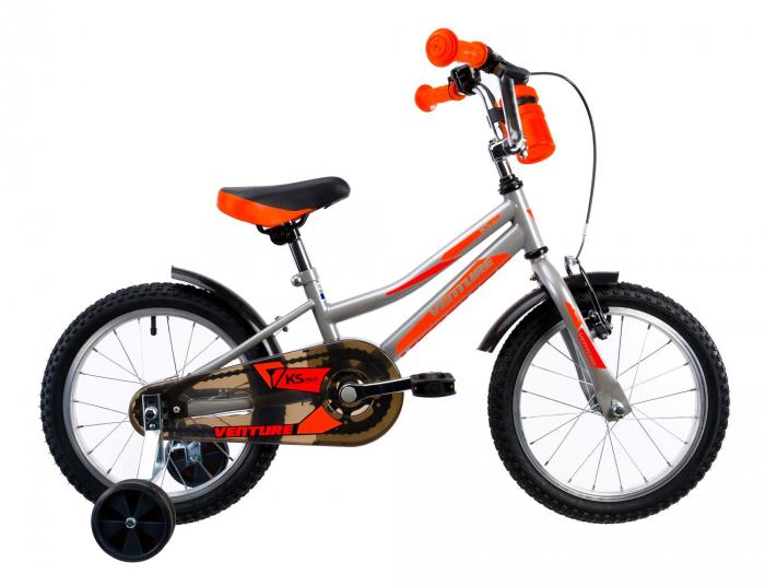 Bicicleta Copii Venture 1617 Gri 16 Inch 0