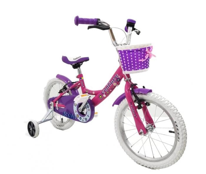 Bicicleta Copii Venture 1618 Alb/Mov 16 Inch [4]