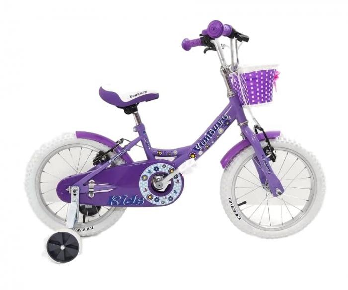 Bicicleta Copii Venture 1618 Alb/Mov 16 Inch [1]