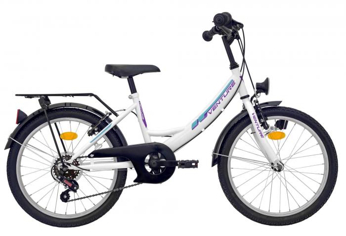 Bicicleta Copii Venture 2018 Alb 16 20 Inch 0