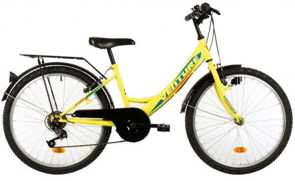 Bicicleta Copii Venture 2418 Galben 24 Inch 0