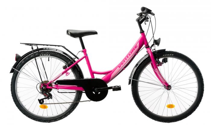 Bicicleta Copii Venture 2418 Roz 24 Inch 0