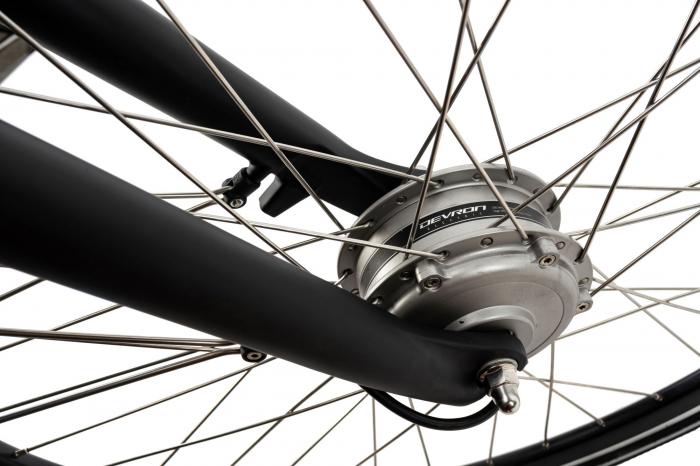 Bicicleta Electrica Devron 28123 M Negru Mat 28 Inch 4