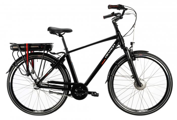 Bicicleta Electrica Devron 28123 M Negru Mat 28 Inch 0