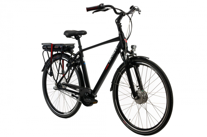 Bicicleta Electrica Devron 28123 M Negru Mat 28 Inch 1