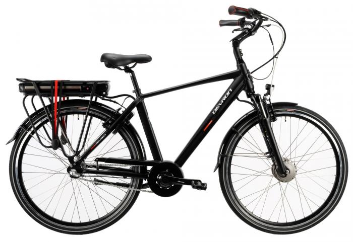 Bicicleta Electrica Devron 28125 Negru L 28 Inch 0