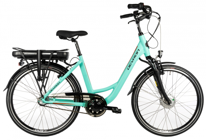 Bicicleta Electrica Devron City E-Bike Devron 26120 M 460Mm Albastru Deschis 26 Inch 0