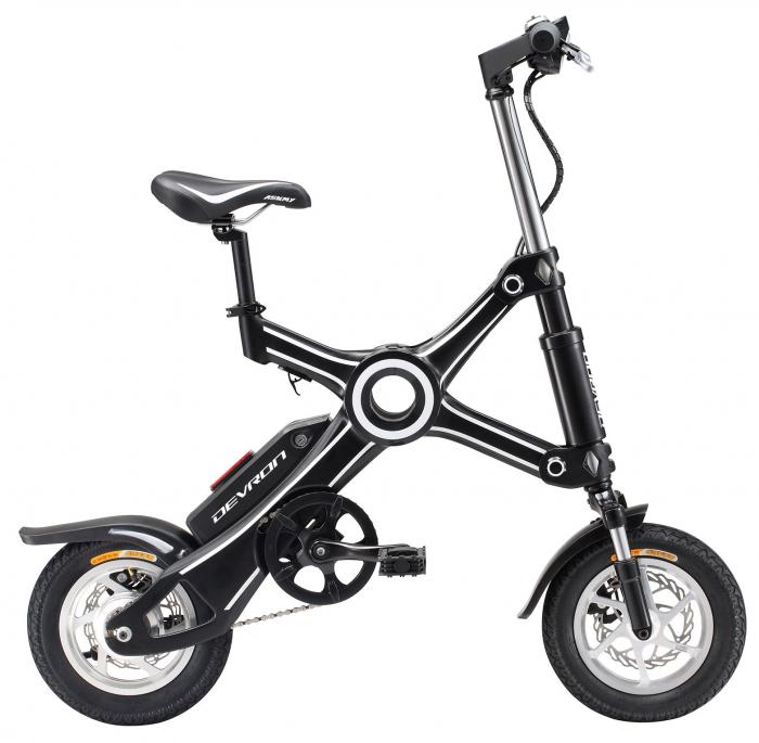 Bicicleta Electrica Devron Pliabila Folding X3 Negru 20 Inch 1